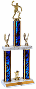 Quick-Ship Two-Tier Trophies with Table Tennis / Ping Pong Figure - Click to enlarge