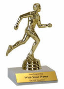 Participation Trophies with Marble Platform - Track & Field - Click to enlarge