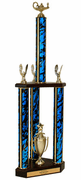 Quick-Ship Two-Tier 3-Column Trophies - Academic - Click to enlarge