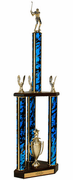 Quick-Ship Two-Tier 3-Column Trophy - Golf - Click to enlarge