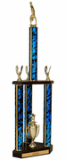 Quick-Ship Two-Tier 3-Column Trophies - Gymnastics - Click to enlarge