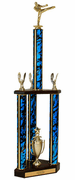 Quick-Ship Two-Tier 3-Column Trophies - Karate - Click to enlarge
