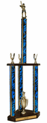 Quick-Ship Two-Tier 3-Column Trophies - Softball - Click to enlarge