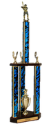 Quick-Ship Two-Tier 3-Column Trophies - Baseball - Click to enlarge