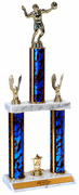 Quick-Ship Two-Tier Trophies with Volleyball Figure - Click to enlarge