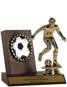 Quick-Ship Wood Soccer Plaque & Figure Award - Click to enlarge