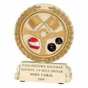 Racing Flags Cast Stone Series Trophy - Click to enlarge