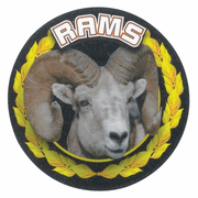 Rams Mascot Medal Insert - Click to enlarge