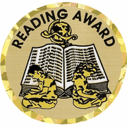 Reading Award Mylar Decal Medal Insert - Click to enlarge