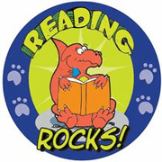 Reading Rocks! Motivational Stickers - Click to enlarge
