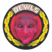 Red Devils Mascot Medal Insert - Click to enlarge