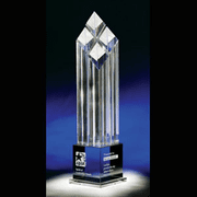 Rhombus IV Crystal Award - Click to enlarge