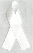 White Right To Life Ribbons - Click to enlarge