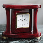 Rosewood Swivel Clock - Click to enlarge