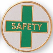 Safety Litho Medal Insert - Click to enlarge