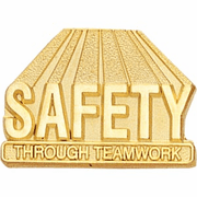 Safety Through Teamwork Lapel Pin (BR Series) - Click to enlarge