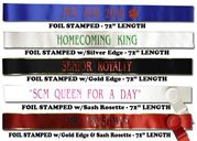 Custom Parade, Homecoming & Pageant Sashes (Teen / Adult) - Click to enlarge