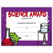 Science Certificate Award - 8 1/2 x 11 - Click to enlarge