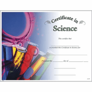Colorful Science Certificates - Click to enlarge