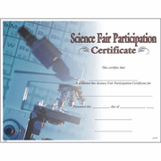 Science Fair Participation Certificates - Click to enlarge