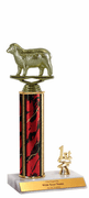 Trophies With Place Trim (1st, 2nd, or 3rd) - Sheep Figure - Click to enlarge