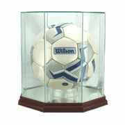 Soccer Ball Display Case (Glass, Octagon) - Click to enlarge