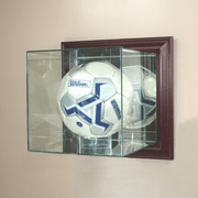 Soccer Display Case (Glass, Wall-Mounted) - Click to enlarge