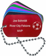 Soccer Dog Tag - Click to enlarge
