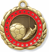 Soccer Medals w/Custom Ring - Click to enlarge