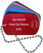Softball Dog Tag - Click to enlarge