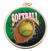 Color Medals (2 3/16 Inch) - Softball - Click to enlarge