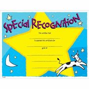 Special Recognition Cow Certificates - Click to enlarge