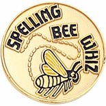 Spelling Bee Whiz Lapel Pin (BR Series) - Click to enlarge