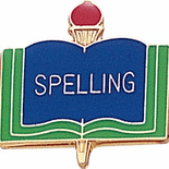 Spelling Lapel Pins - Click to enlarge