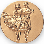 Square Dance Litho Medal Insert - Click to enlarge