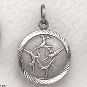 St. Christopher Gymnastic Medal, Girls - Click to enlarge