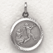 St. Christopher Softball Medal, Girls - Click to enlarge
