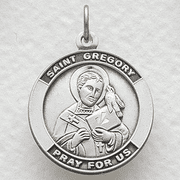 St. Gregory , Patron Of Singers, Musicians - Click to enlarge