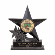 Star Blazer Trophy with Black Stone Finish - Click to enlarge