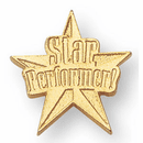 Star Performer Lapel Pins in Gold Finish - Click to enlarge
