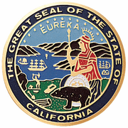 State Seal Of California Medal Insert (Etched) - Click to enlarge
