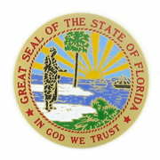 State Seal Of Florida Medal Insert (Etched) - Click to enlarge