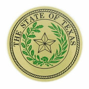 State Seal Of Texas Medal Insert (Etched) - Click to enlarge