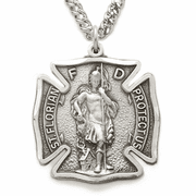 Sterling Silver St. Florian, Patron Of Firefighters - Click to enlarge