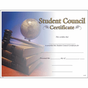 Student Council Certificates - Click to enlarge