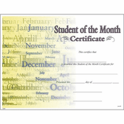 Student of the Month Certificates - Click to enlarge