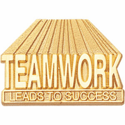 Teamwork Leads To Success Lapel Pin (BR Series) - Click to enlarge
