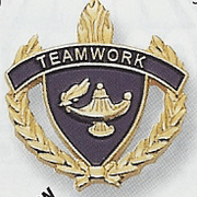 Teamwork Lapel & Letter Pins - Click to enlarge
