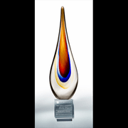 Torchier Swirl Art Award with Crystal Base - Click to enlarge