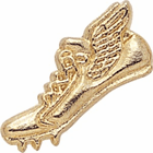 Track Shoe Gold Chenille Lapel Pins - Click to enlarge